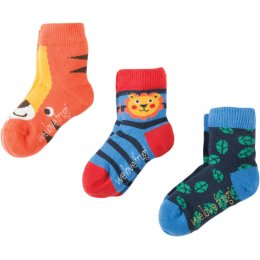 Frugi Little Tiger Socks - Pack of 3