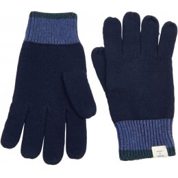 Mudd & Water Evergreen Knitted Navy Gloves