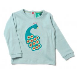 Midnight Peacock Applique T-Shirt