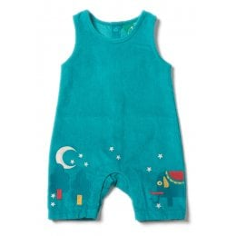 Jungle Embroidered Dungarees