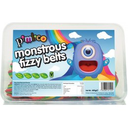 Pimlico Vegan Monstrous Fizzy Belt Sweets - 450g