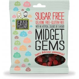 Free From Fellows Vegan Sugar Free Midget Gem Sweets - 100g