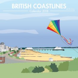 British Coastlines 2018 Wall Calendar