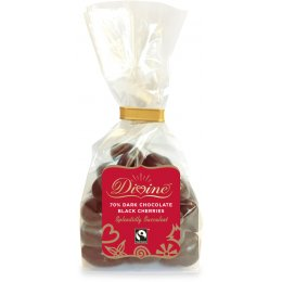 Divine 70 percent  Dark Chocolate Black Cherries - 150g
