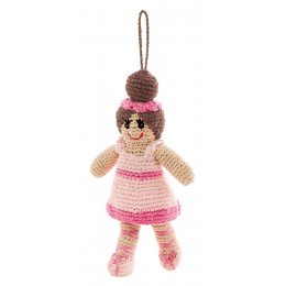 Knitted Ballerina Christmas Decoration
