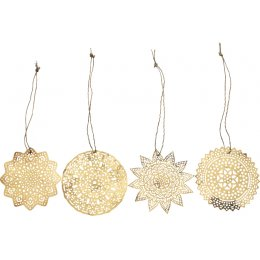 Sankari Brass Large Hanging Decorations - Set of 4
