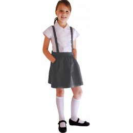 Grey Skirt with Braces - 3yrs