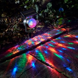 Solar Powered Carnival Spotlight - Pack of 2