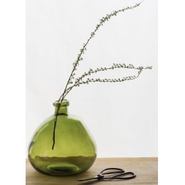 Wells Recycled Glass Bubble Vase - Green