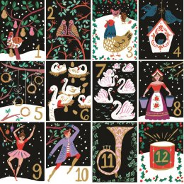 The Twelve Days of Christmas Charity Cards - Pack of 5