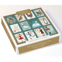 Christmas Classics Mixed Charity Cards Pack - 20
