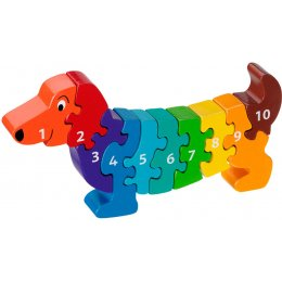 Lanka Kade Wooden Dog Number Jigsaw