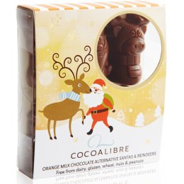 Cocoa Libre Orange Milk Chocolate Alternative Santa & Reindeers - 60g