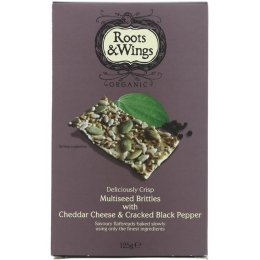 Roots & Wings Organic Seed, Cheese & Pepper Brittles 125g