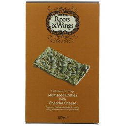 Roots & Wings Organic Multiseed & Cheese Brittles 125g