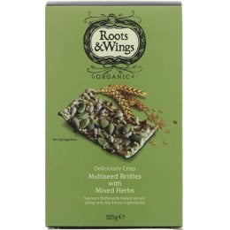 Roots & Wings Organic Multiseed & Herb Brittles 125g