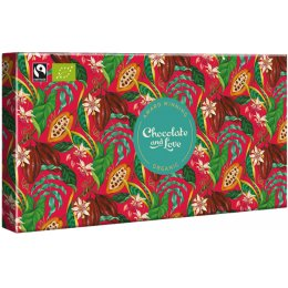 Chocolate & Love Red Gift Box - 4 x 80g Bars