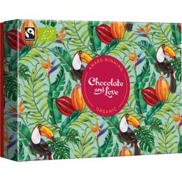 Chocolate & Love Turquoise Gift Box - 4 x 40g Bars