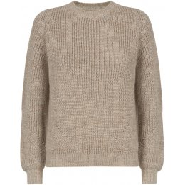 Ally Bee British Alpaca Blend Chunky Crew Neck Jumper - Pebble