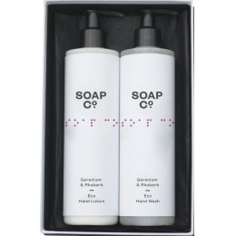 The Soap Co Geranium & Rhubarb Gift Set Duo