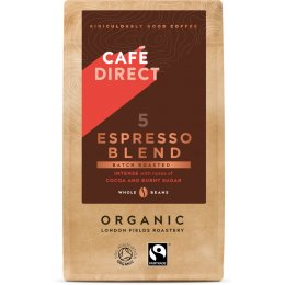 Cafedirect Organic Espresso Blend Coffee Beans - 227g