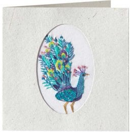Handmade Peacock Card