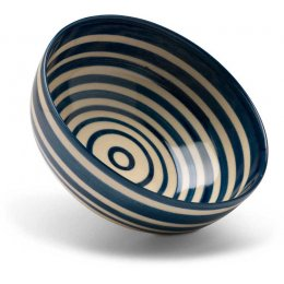 Hand Painted Striped Bowl - Small