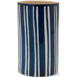 Hand Painted Striped Utensil Holder