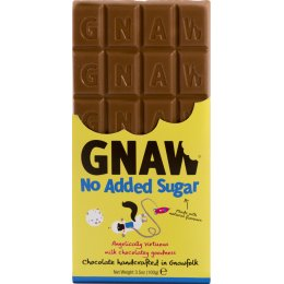 Gnaw No Added Sugar Milk Chocolate Bar - 100g