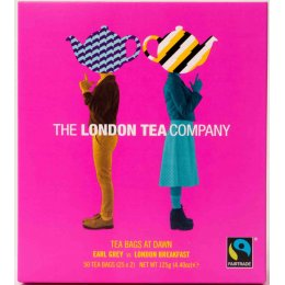 London Tea Company Tea Bags at Dawn Duo Gift Pack - 50 bags