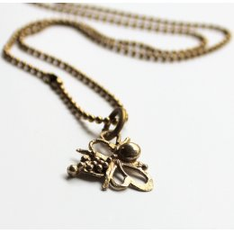 LA Jewellery Recycled Brass Nurture Bee Necklace