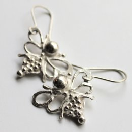 LA Jewellery Recycled Silver Nurture Bee Earrings