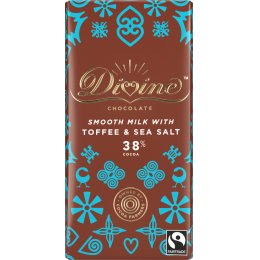 Divine 38 percent  Milk Chocolate with Toffee & Sea Salt - 90g