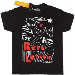 All Riot Nice Day for a Revolution T-Shirt - Black