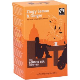 London Tea Company Fairtrade Zingy Lemon & Ginger Tea - 20 bags