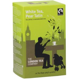 London Tea Company Fairtrade White Tea & Pear Tatin Tea - 20 bags