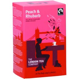 London Tea Company Fairtrade Peach & Rhubarb Tea - 20 bags