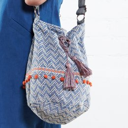 Nomads Chambray Handloom Bucket Bag