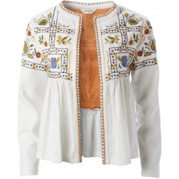 Nomads White Embroidered Jacket