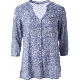 Nomads 3/4 Sleeve Patterned Shirt - Periwinkle