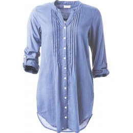 Nomads Plain Cotton Long Shirt - Chambray