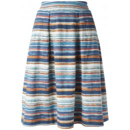 Nomads Organic Cotton Stripe Skirt - Mango