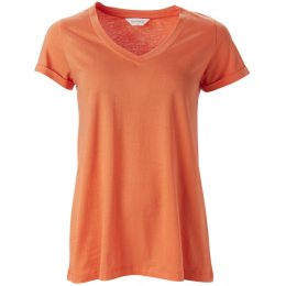 Nomads Organic Cotton V-Neck T-Shirt - Mango