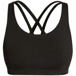 People Tree Cross Back Yoga Top - Black