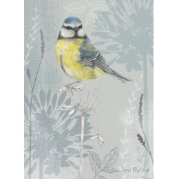 RSPB Bluetit and Blooms Charity Card