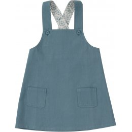 Pigeon Organics Adriatic Blue Apron Pinafore Dress