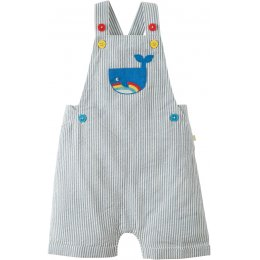 Frugi Dune Whale Dungarees