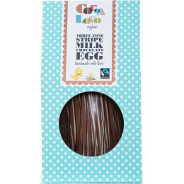 Cocoa Loco Striped Chocolate Easter Egg - 225g