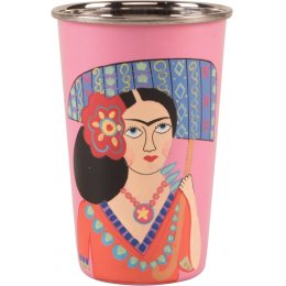 Hand Painted Tumbler - Pink