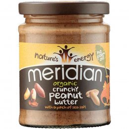 Meridian Organic Peanut Butter - Crunchy - No Added Sugar - 280g